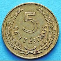 Уругвай 5 сентесимо 1960 год.