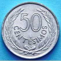 Уругвай 50 сентесимо 1965 год.