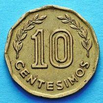 Уругвай 10 сентесимо 1976 - 1981 год. Из обращения.