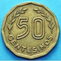Уругвай 50 сентесимо 1976 - 1977 год.