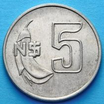 Уругвай 5 песо 1980 - 1981 год.