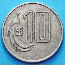 Уругвай 10 песо 1981 год.