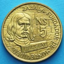 Уругвай 5 песо 1976 год. Монтевидео.