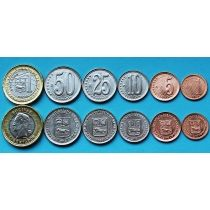 Венесуэла набор 6 монет 2009-2012 год.
