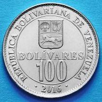Венесуэла 100 боливар 2016 год.