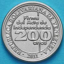 Венесуэла 25 сентимо 2011 год. Независимость.