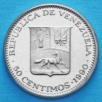 Венесуэла 50 сентимо 1990 год. UNC.
