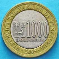 Венесуэла 1000 боливар 2005 год.