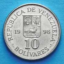Венесуэла 10 боливар 1998 год.