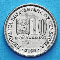 Венесуэла 10 боливар 2000, 2001 год.