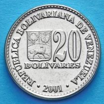 Венесуэла 20 боливар 2000, 2001 год.