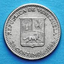 Венесуэла 25 сентимо 1965 год.