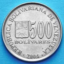 Венесуэла 500 боливар 2004 год.
