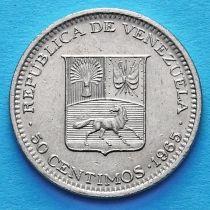 Венесуэла 50 сентимо 1965-1985 год.