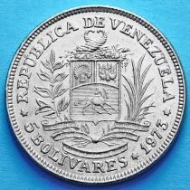 Венесуэла 5 боливар 1973 год.