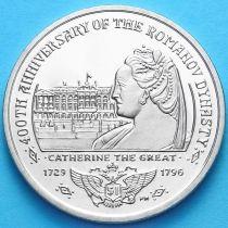 Британские Виргинские острова 1 доллар 2013 год. Екатерина Великая