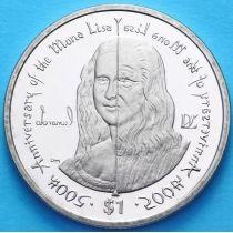 Британские Виргинские острова 1 доллар 2006 г. Леонардо да Винчи