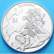 Британские Виргинские острова 1 доллар 2016 г. Волейбол