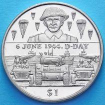 Британские Виргинские острова 1 доллар 2004 год. День D. Десантник