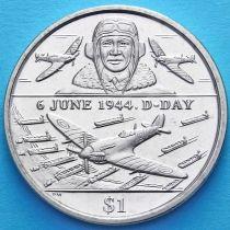 Британские Виргинские острова 1 доллар 2004 год. День D. Пилот