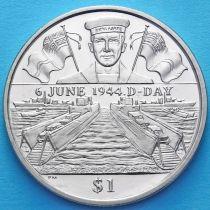Британские Виргинские острова 1 доллар 2004 год. День D. Моряк