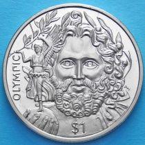 Британские Виргинские острова 1 доллар 2013 год. Барон Пьер де Кубертен