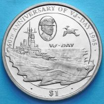 Британские Виргинские острова 1 доллар 2005 год. Линкор Миссури.