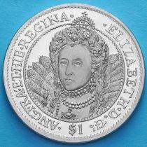 Британские Виргинские острова 1 доллар 2007 год. Елизавета I.