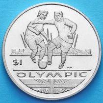 Британские Виргинские острова 1 доллар 2012 год. Футбол.