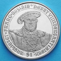 Британские Виргинские острова 1 доллар 2007 год. Генрих VIII.
