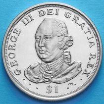 Британские Виргинские острова 1 доллар 2008 год. Георг III.