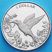 Британские Виргинские острова 1 доллар 2017 год. Колибри.