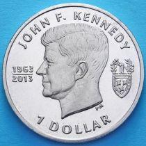 Британские Виргинские острова 1 доллар 2013 год. Джон Кеннеди