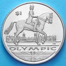 Британские Виргинские острова 1 доллар 2012 год. Конный спорт.