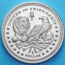 Британские Виргинские острова 1 доллар 2007 год. Джеймстаун.