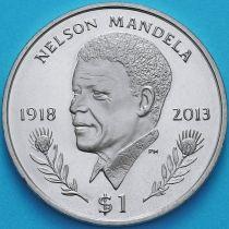 Британские Виргинские острова 1 доллар 2014 год. Нельсон Мандела.