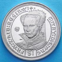 Британские Виргинские острова 1 доллар 2008 год. Мария Тюдор