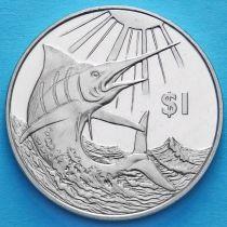 Британские Виргинские острова 1 доллар 2017 год. Голубой марлин.