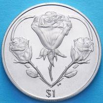 Британские Виргинские острова 1 доллар 2015 год.
