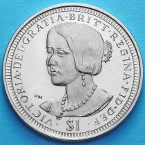 Британские Виргинские острова 1 доллар 2006 год. Виктория.