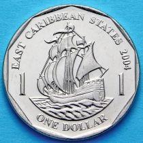 Восточные Карибы 1 доллар 2004 год.