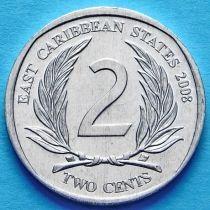 Восточные Карибы 2 цента 2008 год