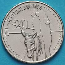 Австралия 20 центов 2015 год. Животные.