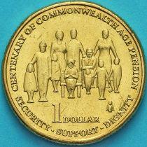 Австралия 1 доллар 2009 год.  Пенсии в странах Содружества.