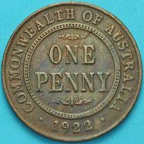 Австралия 1 пенни 1922 год.