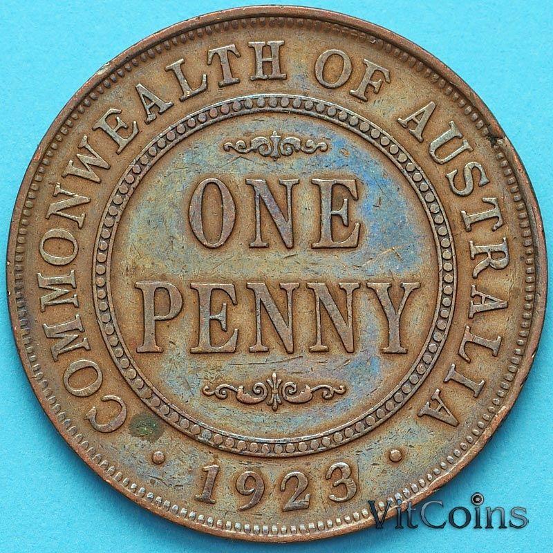 Монета Австралия 1 пенни 1923 год.
