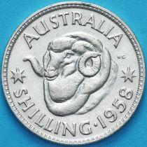 Австралия 1 шиллинг 1958 год. Елизавета II Серебро.