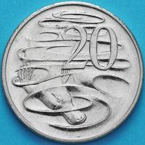 Австралия 20 центов 1999-2010 год.