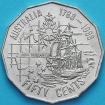 Австралия 50 центов 1988 год. 200 лет Австралии.