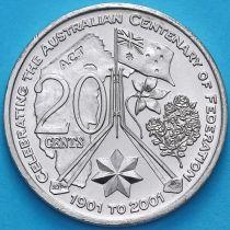 Австралия 20 центов 2001 год. Австралийская Столичная Территория